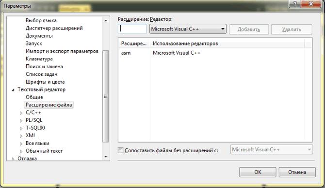Расширение файла asm